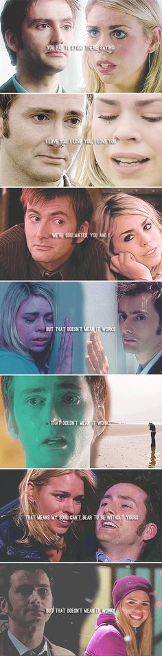 The Doctor + Rose Tyler: You Couldn't Just Leave? #doctorwho