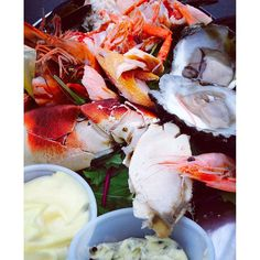 Our #seafood sharing platter is proving popular today at #faloysterfestival #Falmouth