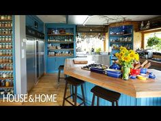 A Colorful and Super-Functional Chef's Kitchen - YouTube