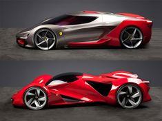 Ferrari Top Design School Challenge: the finalists - Car Body Design Exotic Sports Cars, Ferrari Car, Best Luxury Cars, Futuristic Cars, Sport Cars, Custom Cars, Concept Cars, Cars And Motorcycles, Cool Cars