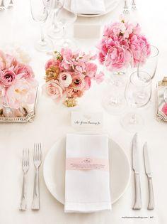 flowers tablesetting