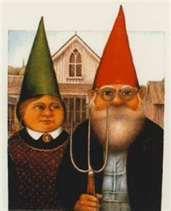 American Gothic Parodies: Gnome American Gothic