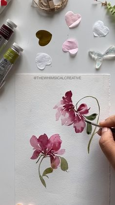 Watercolor Mixing, Watercolor Ideas, Watercolor And Ink, Watercolor Flowers, Painting Tips, Fabric Painting, Watercolor Christmas Cards, Delicate Jewelry, Merry Little Christmas