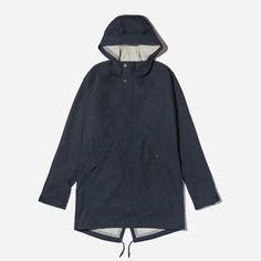 """Everest ready. Sidewalk approved. Our Elements Anorak is made from waterproof from 3-layer cotton, and every seam is heat-bonded and taped shut—so the rain stays out. We cut it long for extra coverage and added a fishtail hem for style points. <a href=""""/elements"""">See the story.</a>"""
