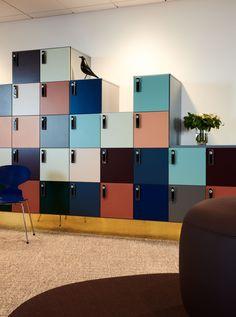 Office Lockers, Loft Office, Office Workspace, Office Walls, Corporate Office Design, Workplace Design, Office Interior Design, Office Interiors, Architecture People