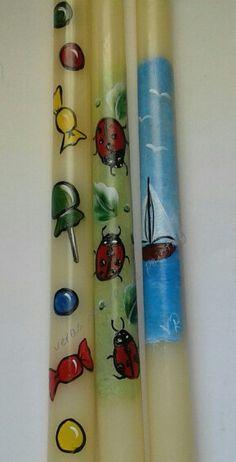 Πασχαλινες ζωγραφισμένες λαμπάδες