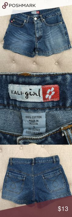 Kali girl jean shorts sz1 Kali girl jean shorts sz1. Gained weight and doesn't fit me anymore! Excellent condition. 100% cotton made in Russia Kali girl Shorts Jean Shorts