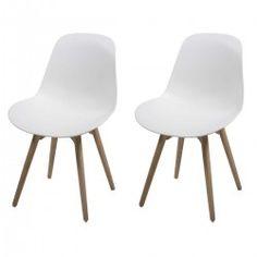 Chaise blanche design Scramble ATYLIA (X2)