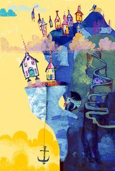 Jill Calder   Illustrators   Central Illustration Agency House Illustration, Book Binding, The New Yorker, Digital Image, Illustrators, Typography, Ink, Drawings, Houses