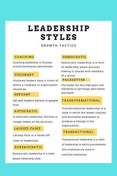 Are you striving to be a better supervisor, manager, and leader? Knowing how and when to use different leadership styles can help you reach that next level as a leader. Click the link to learn about 10 common leadership styles that you can use right away. Leadership Activities, Leadership Coaching, Leadership Roles, Educational Leadership, Leadership Development, Coaching Quotes, Group Activities, Life Coaching, Education Quotes