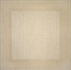 Agnes Martin. She inspires me to use linen.