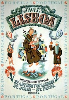 1949_Lisboa #Portugal. Poster announcing the celebration of traditional…