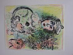 """""""Clown with Flowers"""" by Marc Chagall"""
