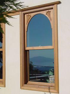Windows _ residence | Pelion | Volos | exterior | design | construction | detail _ visit us at: www.philippitzis.gr Decor, Furniture, Windows, Home Decor, Mirror