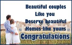 Congratulations message to a couple for their new home