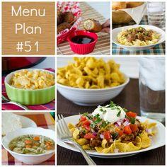 Menu Plan Monday - Week 51 - Real Mom Kitchen