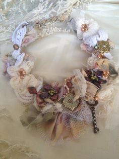 Bohemian Victorian Bib Necklace by MARTICASJEWELRY on Etsy