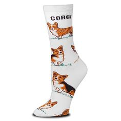 Large Print Corgi Poses Socks Medium For Bare Feet Adult Socks -- Want to know more, click on the image.