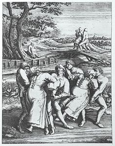 June 24, 1374: Dancing Sickness breaks out in Aachen. It was one of the first documented outbreaks of this mysterious medieval ailment, in which large groups of people (sometimes in the tens of thousands) danced until they dropped -- and sometimes died. Those suffering believed it was a curse from St. Vitus, from St. John, or simply demonic possession. Today, we don't know what caused it.
