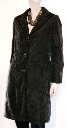 Dry & Warm! Wonderful Black Woman Quilted Coat Branded MARELLA Trench Cappotto Piumino Lungo Donna Nero Impermeabile Imbottito Taglia 44 di BeHappieWorld su Etsy