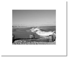 """Dave Gould black and white photography """"shells and waves"""" page"""