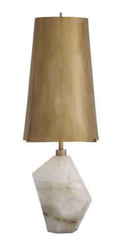 Visual Comfort Kelly Wearstler Halcyon 25 inch 75 watt Natural Quartz Stone Table Lamp Portable Light in Antique Brass, Kelly Wearstler, Accent, Antique Brass Shade Interior Lighting, Home Lighting, Lighting Design, Kelly Wearstler, Architecture Restaurant, Architecture Design, Best Desk Lamp, Contemporary Table Lamps, Modern Table