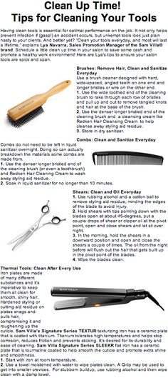 Clean Up Time!   Tips for Cleaning Your Hair Salon Tools  http://tipsrazzi.com/ppost/234046511866731075/