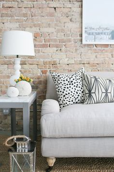 Faux Brick Wallpaper. Living Room Wallpaper. Room Inspiration. Rustic Inspired. |  Chelsea Lane & Co.