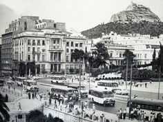 Greece Pictures, Old Pictures, Old Photos, Vintage Photos, My Athens, Athens Hotel, Athens Greece, Athens History, Greece History