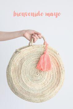 new moroccan basket. capazo de palma redondo