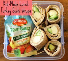 Kid-Made Lunch: Turkey Sushi Wrap