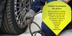Les températures chauffants affectent la pression des pneus - une augmentation de 10 degrés peut chuter la pression par 1-2 psi. Une pression faible des pneus signifie que vous aurez moins de kilomètres par chaque litre et signifie que vos pneus vont user plus rapidement que s'ils ont été correctement gonflés. Chaque fois que vous arrêtez à une station d'essence, vérifiez la pression des pneus. #pneushiver