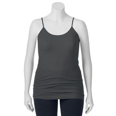 Juniors' Plus Size SO® Seamless Solid Tunic Tank Top, Girl's, Size: