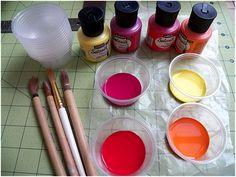 silk painting - tutorial 3