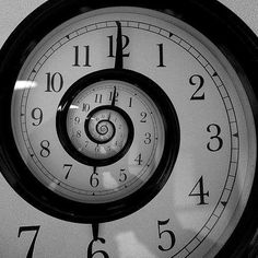 Time is an illusion..  #time #clock #spiral #fractal /// What about a playroom based on a wonderland/book theme?