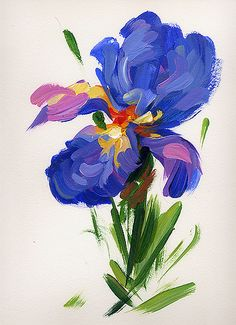 """Blue Iris #5"" by American Impressionist Lisa Palombo. Exhibition at Presby opens May 10, 2013."