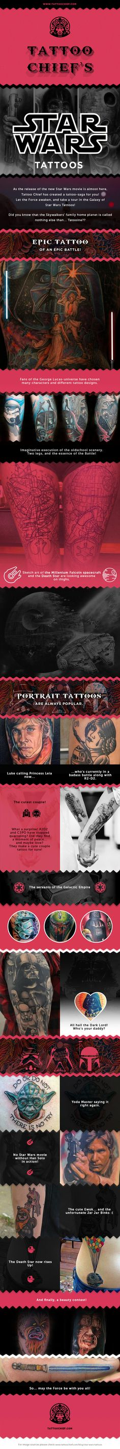 Tattoo Chief blog:Star Wars Tattoos. Be inspired by some of the best tattoos on the planet.