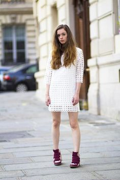 White Dress With Cut Out | Choies