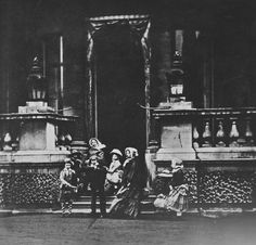 Queen Victoria with seven of her children, Buckingham Palace 1854 [in Portraits of Royal Children, Vol. 1 1848-1854]