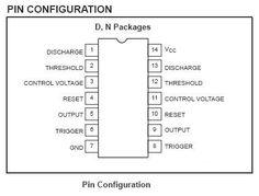 556 Timer Pin Description