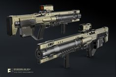 ANTI-MATERIAL COIL RIFLE 20mm Self-Steering Armor piercing Ammo. Try to learn how to design weapon in maya.