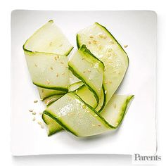 Toss thin strips of cucumber in a vinegar and oil dressing for a quick side dish or snack.