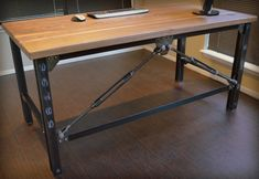 Custom Made Industrial Executive Desk by Urban Industrial Works | CustomMade.com