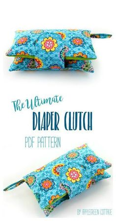 This cute and super convenient DIAPER CLUTCH sewing pattern is the perfect handmade gift every new mom would love to have. Also, makes an excellent baby shower present. Totally adjustable: one pattern, many different options! And NOW 33% off, just for th