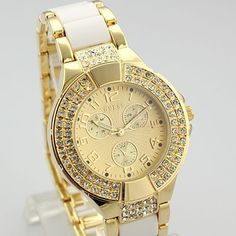 Relogio Feminino Fashion Silver Golden Stainless Steel Strap Watches Men Luxury Brand New Design Women Wristwatches Atmos Clock-in Wristwatches from Watches on Aliexpress.com | Alibaba Group
