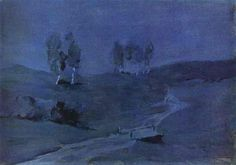 Shadows, Moonlit Night by Isaac Levitan