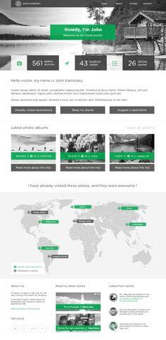 Travel_journal_home - #design #webdesign