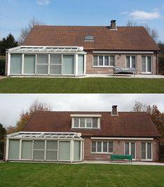 Op deze foto is de dakkapel afgewerkt in exact dezelfde RALkleur als de veranda.