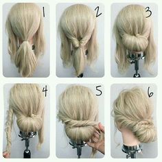 Excellent tutitorial for a elegant low bun hair do :) #hairstyles #buns