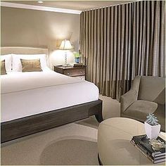 Decorating Ideas for Taupe Bedroom – Home Design Tips Taupe Bedroom, All White Bedroom, Linen Bedroom, White Bedding, Home Bedroom, Bedroom Furniture, Master Bedroom, Bedroom Decor, Bedroom Ideas